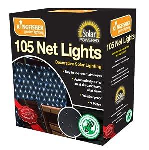 2 X Solar Powered Net Lights White LED 105 Bulb from Bonnington Plastics