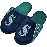 MLB Seattle Mariners Team Stripe Logo Slippers - Navy Blue (11/12) Amazon.com