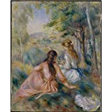 Tallenge Old Masters Collection - Meadow By Pierre-Auguste Renoir - A3 Size Premium Quality Rolled Poster