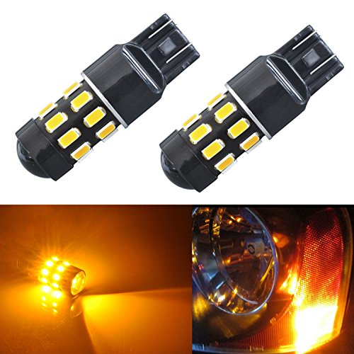 JDM ASTAR Super Bright 5730 Chipsets 7440 7441 7443 7444 992 LED Bulbs with Projector,Amber Yellow