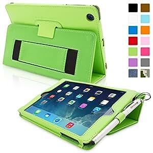 iPad Mini & Mini 2 Case, Snugg™ - Smart Cover with Flip Stand & Lifetime Guarantee (Green Leather) for Apple iPad Mini & Mini 2 with Retina