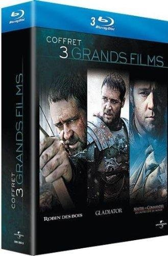 Russell Crowe - 3 grands films : Robin des Bois + Gladiator + Master and Commander [Blu-ray] (Master Commander Blu Ray compare prices)