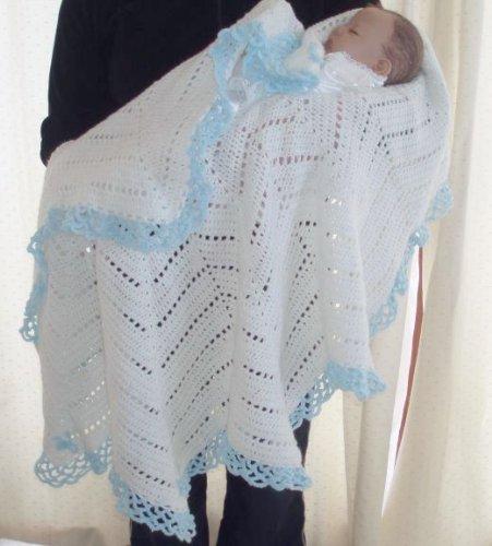 Crochet Usa : Ruffles & Bows Shawl Crochet Pattern USA Afghan Pattern Crochet
