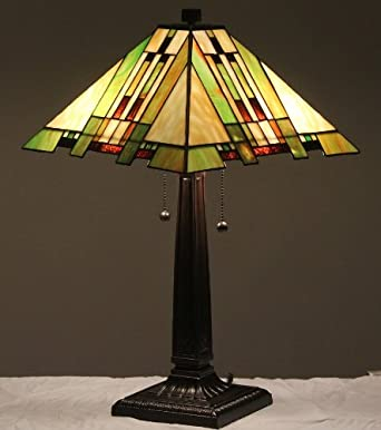 tiffany style stained glass table lamp aspen mission. Black Bedroom Furniture Sets. Home Design Ideas