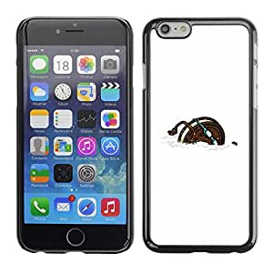 Omega Covers - Snap on Hard Back Case Cover Shell FOR Iphone 6/6S (4.7 INCH) - Cookie Sports Funny Cartoon