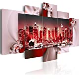 Impression sur toile 200x100 cm - Grand Format - 5 Parties - Image sur toile - Images - Photo - Tableau - New York 051449 200x100 cm B&D XXL