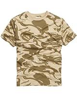 100% Cotton Military Style T-shirt - British Desert Camouflage