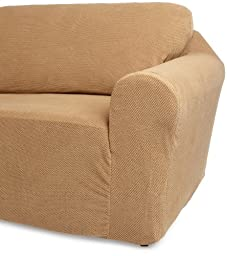 Classic Slipcovers 60-72-Inch Loveseat Cover, Cappuccino
