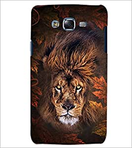 PrintDhaba ANGRY LION D-6181 Back Case Cover for SAMSUNG GALAXY J7 (Multi-Coloured)