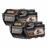 Ridgid AC840089 18-Volt 5.0Ah High Capacity HYPER Lithium-Ion Battery (2-Pack)