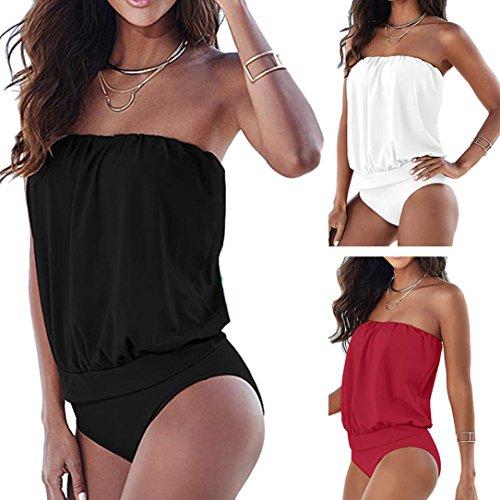 b9cd6455618f Malloom Ropa de baño, Mujeres Atractiva vendaje vestido Trajes de una pieza  de baño traje de baño Mono Bikini - Ethereal