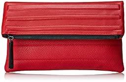 gx by Gwen Stefani Jacop Foldover Clutch, Red, One Size