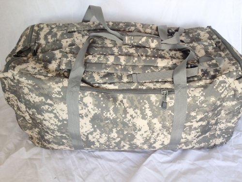 Cargo Travel Duffel Bag with Shoulder Straps (Large, ACU Digital Camo)