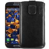 mumbi ECHT Ledertasche Samsung Galaxy S4 Leder Tasche Etui (Lasche mit R�ckzugfunktion)