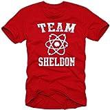 Coole-Fun-T-Shirts Herren T-shirt Team Sheldon - Big Bang Theory ! Vintage, N10748
