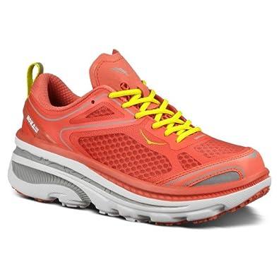 Hoka One One Bondi 3 Running Shoe-Women's Coral/Hi Rise/Citrus