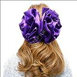 (KEEP YOU) BIGサイズ ヘア クリップ サテンフリル アクセサリー 髪飾り hair-acc-47