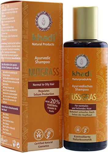Khadi Shampoo Nutgrass Capelli Normali Grassi Antiforfora Rigenerante