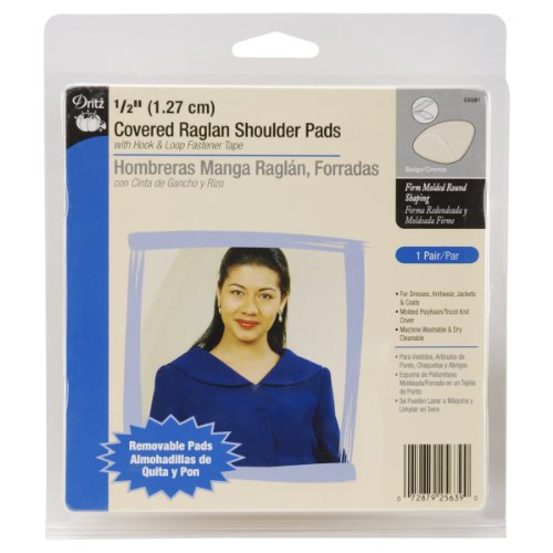 Buy Dritz 1/2 Inch Covered Raglan Shoulder Pads - Beige