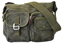 Vintage Classic Army Messenger Canvas Bag Heavy Weight Shoulder Field Bag