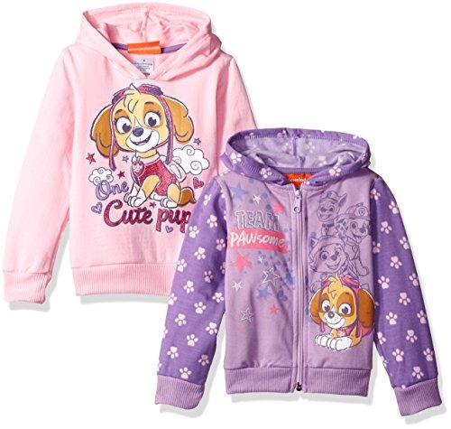 Nickelodeon Girls' Paw Patrol 2 Pack Hoodies