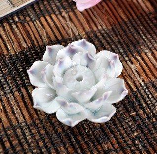 Quemadordeinciensorecipientesoporte Blanco Abierto flor