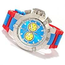 Invicta Mens Subaqua Noma III Puppy Edition Swiss Made Chrono Yellow & Blue Dial Red Watch 10982
