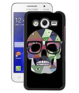 Fuson 2D Printed Skull Designer Back Case Cover for Samsung Galaxy Core 2 - D1031