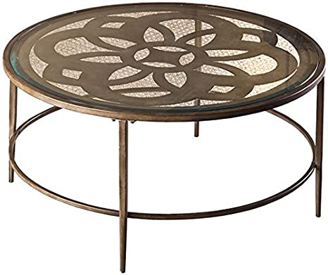 "Dally Coffee Table, 18""Hx36""Wx36""D, RUBBED BROWN"