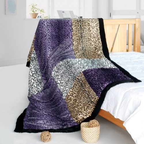 Onitiva - [Precious Heartbeat] Patchwork Throw Blanket (61 By 86.6 Inches)