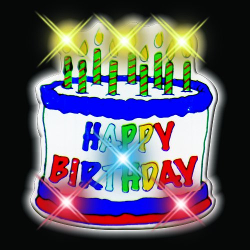 Amazon.com: Happy Birthday Cake Flashing Blinking Light Up