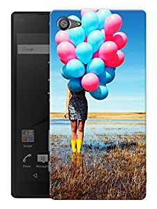 """Humor Gang Girl With Balloons Printed Designer Mobile Back Cover For """"Sony Xperia Z5 Mini - Compact"""" (3D, Matte, Premium Quality Snap On Case)"""