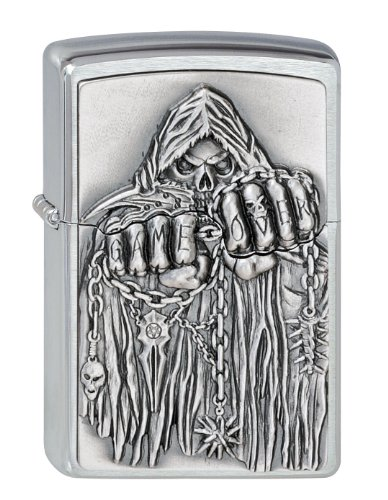 Originale Zippo Skull - Grim Reaper - Game over - logo