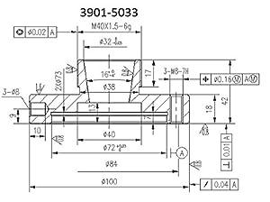 HHIP 3901-5033 Collet Chuck for ER-32, 100 mm Diameter (Tamaño: 100mm Dia)