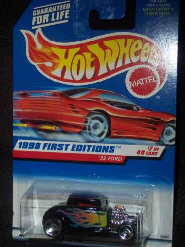 1998 First Editions #7 1932 Ford Razor Wheels Malaysia 1998 Red Card #636 Mint