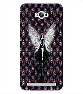 PrintDhaba Black Angel D-5090 Back Case Cover for ASUS ZENFONE MAX ZC550KL (Multi-Coloured)
