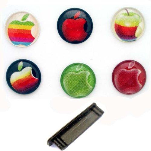 iPhone3/4 iPad iPod用 ボタンステッカー #12 Apple