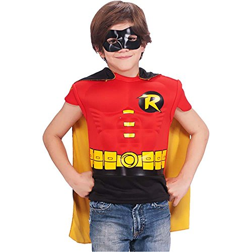 Robin Muscle Chest Shirt Kids Costume