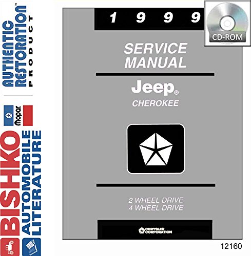 1999 Jeep Cherokee Shop Service Repair Manual CD Engine Drivetrain Electrical (1999 Jeep Factory Service Manual compare prices)