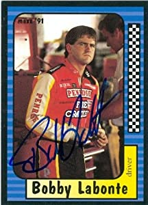 Bobby Labonte Autographed Hand Signed Trading Card (Auto Racing) Maxx 1991 #53 by Hall of Fame Memorabilia