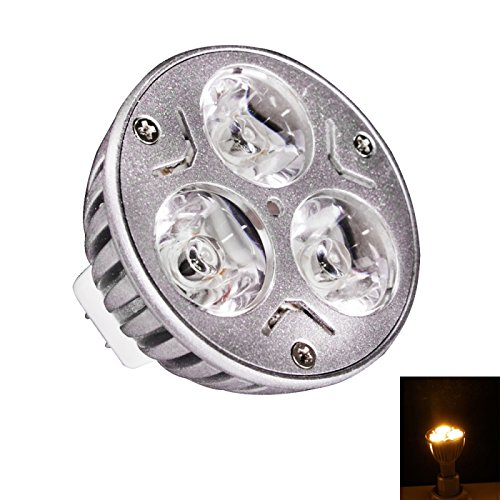 Spot Bulbs - Mr16 3W 3 Led 230 Lumen Warm White Spotlight Led Bulb(12V)