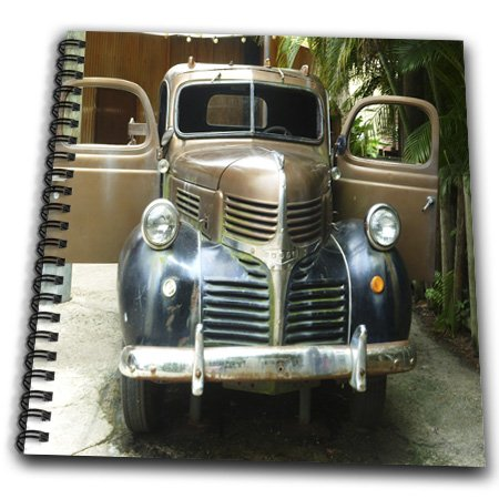 Florene - Vintage Transportation - Print Of Thirties Dodge Truck Palm Beach Florida - Drawing Book - Memory Book 12 X 12 Inch - Db_194886_2