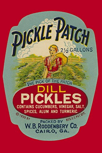 Pickle Patch Dill Pickles, 20x30 Poster, Heavy Stock Semi-Gloss Paper Print (Dill Pickle Poster compare prices)