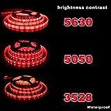 1?5メートルLEDストリップライト12V IP65 3528 5050 5630防水LEDホワイトキッチンクリスマスレッド5050 5メートル