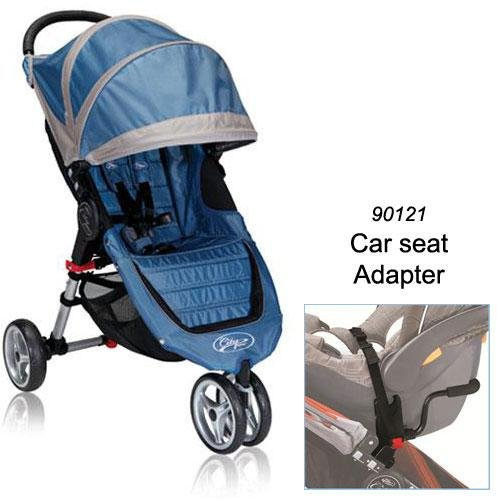 Baby Jogger 2012 City Mini Stroller in Blue/Gray with Car Seat Adapter