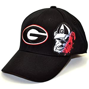 NCAA Georgia Bulldogs Men's Free Agent 1 Fit Cap (Black, One Size)