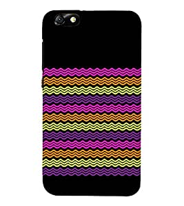 Round Lines Chevron Cute Fashion 3D Hard Polycarbonate Designer Back Case Cover for Huawei Honor 4X :: Huawei Glory Play 4X