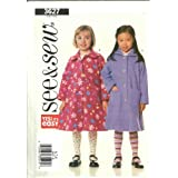 Childrens & Girls Coat (Butterick Sewing Pattern 3627, Size 6,7,8) ~ Butterick