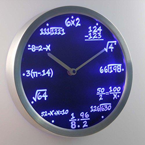 Nc0461-B Math Class Algebra Formula Mathematics Teacher Gift Neon Led Wall Clock