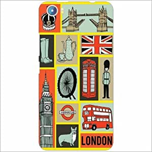 Micromax Canvas Fire 4 A107 Back Cover - Silicon Collage Desiner Cases